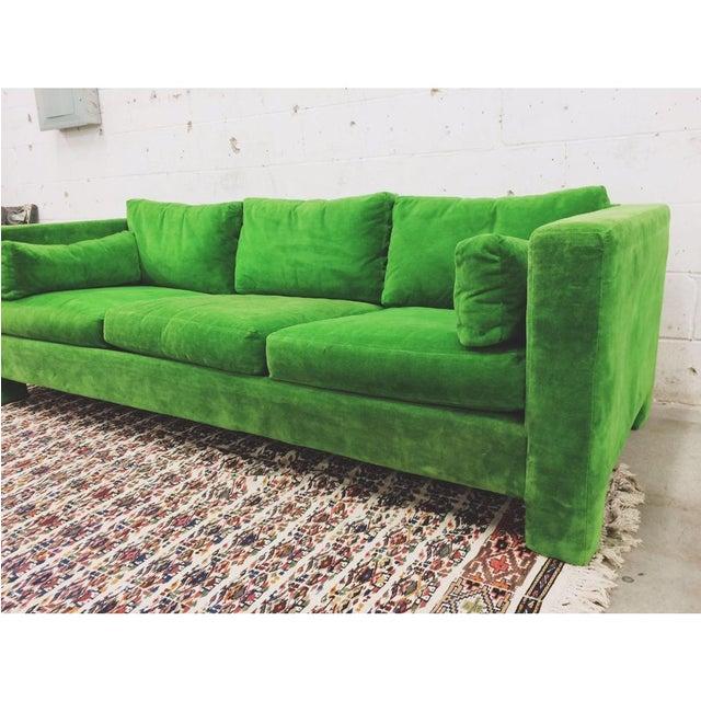 Milo Baughman Thayer Coggin Stunning Green Sofa - Image 2 of 5