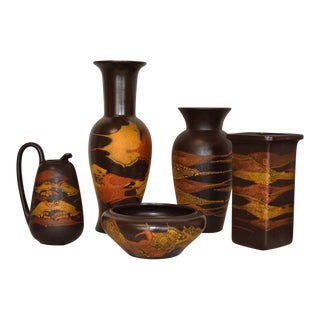"Collection of Royal Haeger ""Earth Wrap"" Pottery - Set of 5"