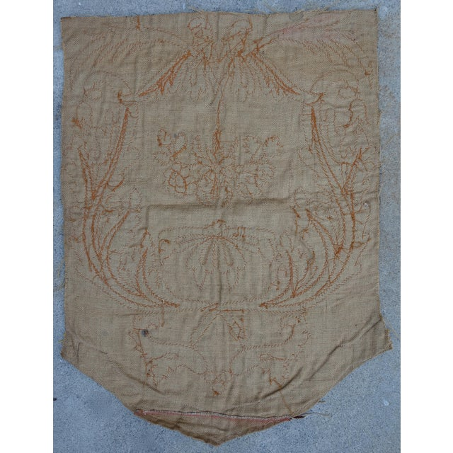 19th Century Italian Gold and Silver Metallic Appliqued Textile - Image 6 of 6