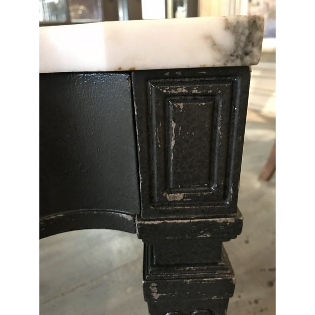 Weiman White & Black Marble Top Vintage Side Tables -- A Pair - Image 6 of 11