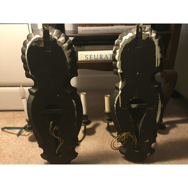 Vintage Venetian Mirrored Wall Sconces - A Pair - Image 4 of 5