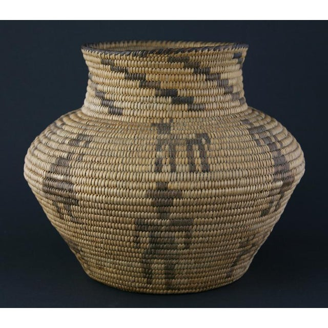 Pima Figurative Basketry Olla, circa 1920 - Image 2 of 7