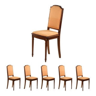 Vintage Louis XVI Style Dining Chairs - Set of 6