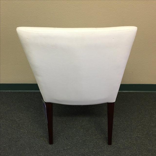 Image of Dakota Jackson White Leather Marina Odile Chair
