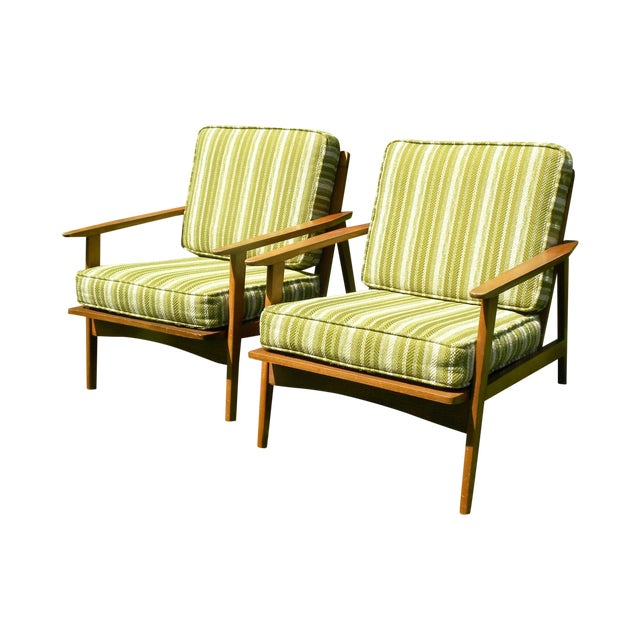 Vintage Mid Century Lounge Chairs - A Pair - Image 1 of 7