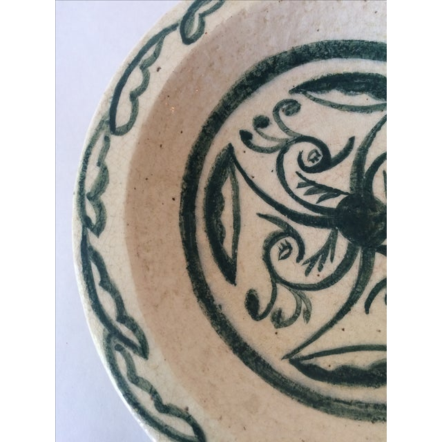 Vintage Footed Ceramic Bowl - Image 6 of 11