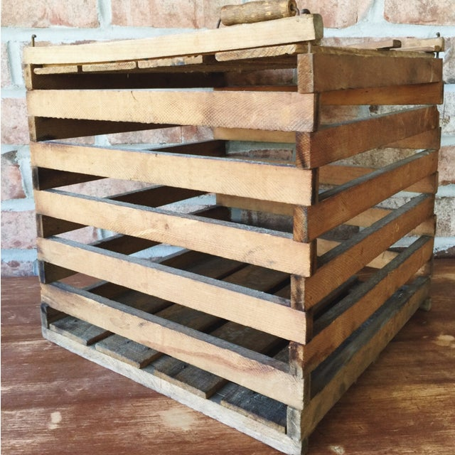 Antique Egg Carrier Crate - Image 3 of 6