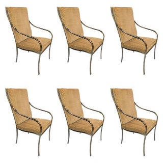 Pierre Cardin Chrome Dining Chairs - Set of 6