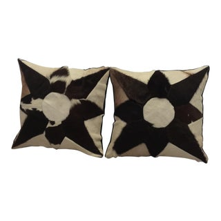 Mid-Century Cowhide Pillows