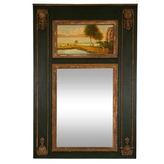 French Painted Trumeau Mirror