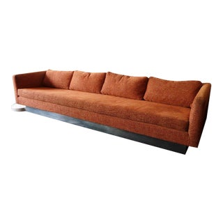 Milo Baughman Chrome Base Sofa