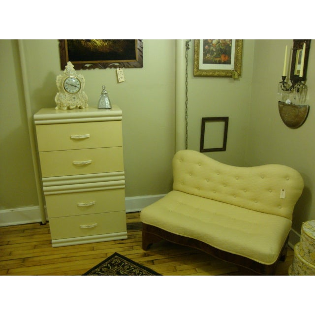 Flame Mahogany Upholstered Bed Bench - Image 5 of 6
