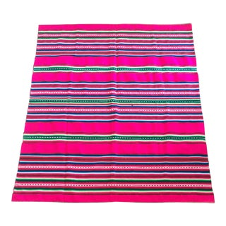 Vintage Bolivian Handwoven Blanket