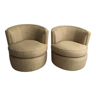 Modern Room and Board Otis Swivel Chair - A Pair