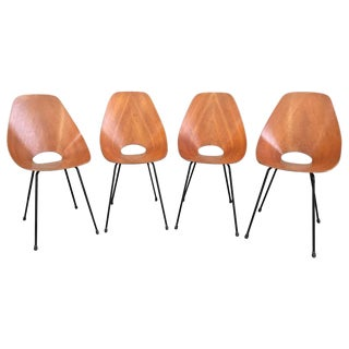 Stunning Set of Four Medea Chairs by Vittorio Nobili