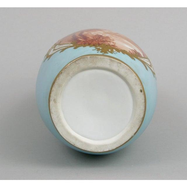 French Antique Porcelain Toile Vase - Image 10 of 10