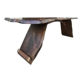 Organic Modern Live Edge Walnut Coffee Table/Bench
