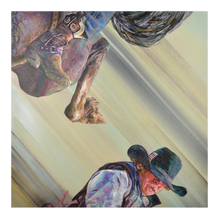 Flipping Cowboy #3 Original Painting on Canvas
