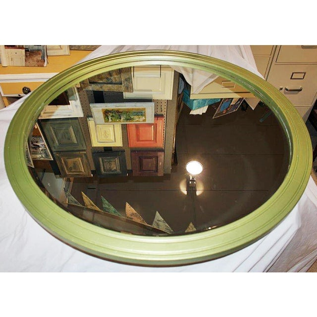 Large Round Painted Mirror - Image 3 of 5
