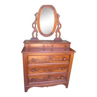 American Empire Flame Mahogany Dresser