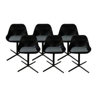 Modern Black Acrylic Dining Chairs - Set of 6