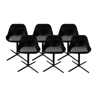 Modern Black Acrylic Dining Chairs - Set of 6
