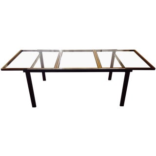 Chrome & Smoked Glass Extendable Dining Table