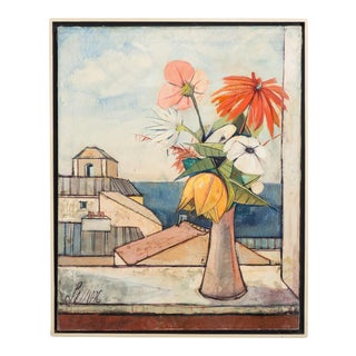 Framed Still Life Oil Painting by Charles Levier, Signed