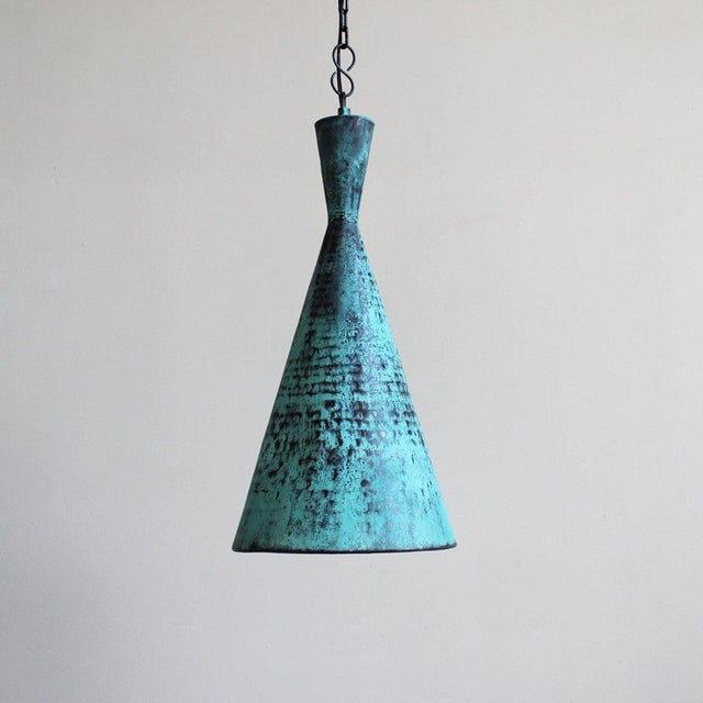 Image of Hand Hammered Copper Corong Light