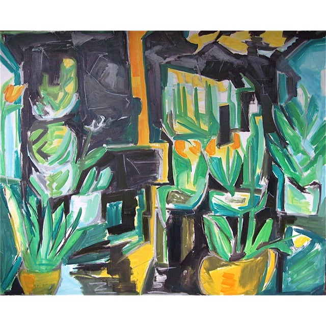 "48""x60"" Abstract ""Village Florist"" by Trixie Pitts - Image 1 of 5"