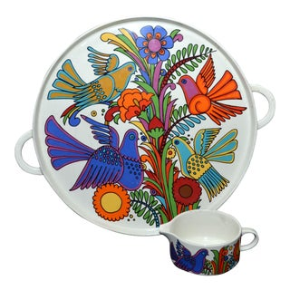 "Villeroy & Boch ""Acapulco"" Tray/Chop Plate and Creamer - 2 Piece Set"