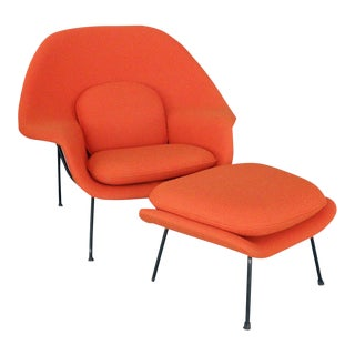 Saarinen for Knoll Womb Chair With Ottoman