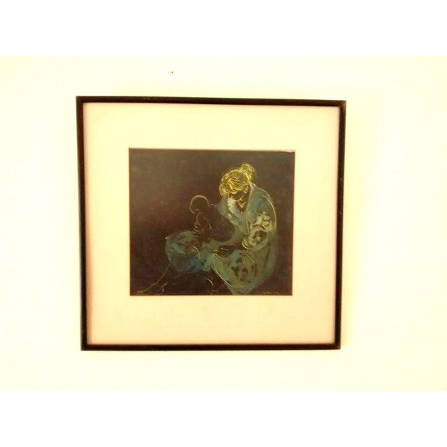 Abstract Painting Joe Capozio Woman Child - Image 7 of 7