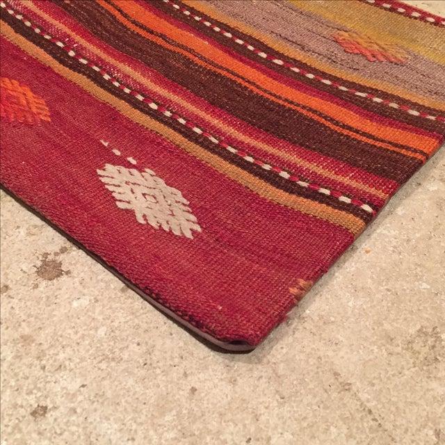Vintage Striped Kilim Pillow - Image 3 of 5