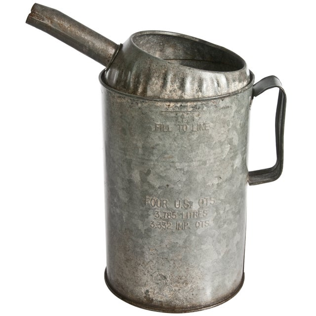 Image of Vintage Galvanized Oil Pitcher