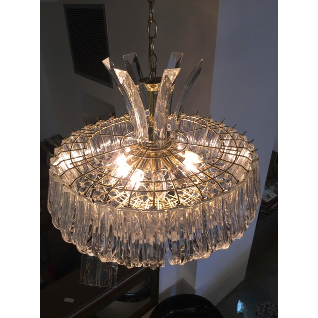 Image of Triarch Lucite Chandelier