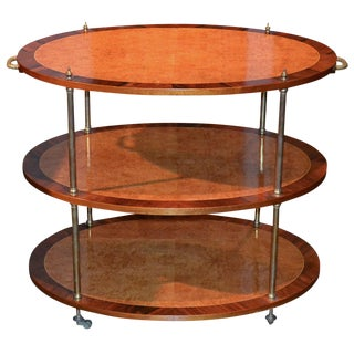 English Burl and Kingwood Etagere