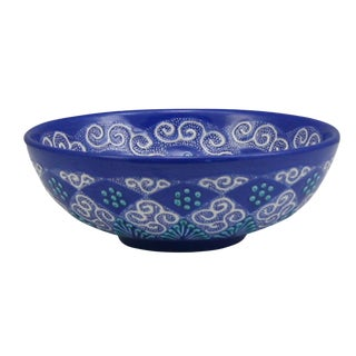 Rug & Relic Blue Lace Ceramic Bowl