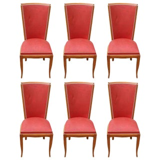 Fine French Art Deco Mahogany Dining Chairs - Set of 6