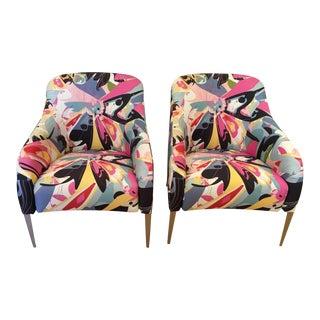 Pair of B & B Italia Designer Chairs w Diane Von Furstenberg