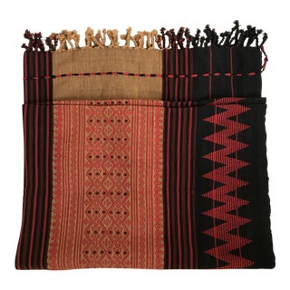 Naga Woven Textile Fringe Blanket Throw Textile