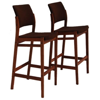 Danish Modern Teak Bar Stools - A Pair