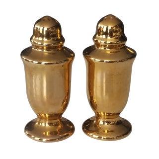 24k Gold Salt and Pepper Shaker Set