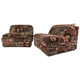 Campos Mid-Century Italian Lounge Chairs - a Pair