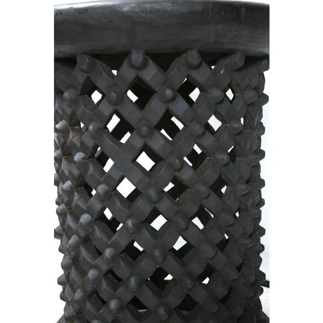 Tall Hand Carved African Cameroon Table - Image 6 of 8
