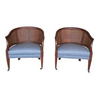 Hickory Chair Barrel Back Club Chairs - A Pair