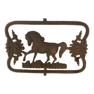 19th C. Iron Horse Wall Plaque
