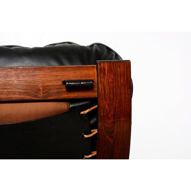 Vintage 1973 Scandinavian Rosewood Chair & Ottoman - Image 8 of 9