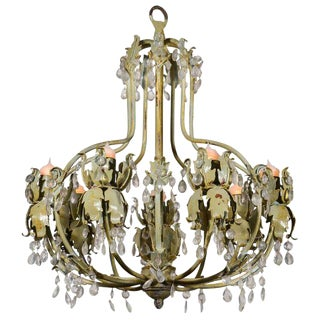 Pair of Vintage Painted French Chandeliers