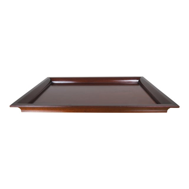 English Mahogany Tray - Image 1 of 7